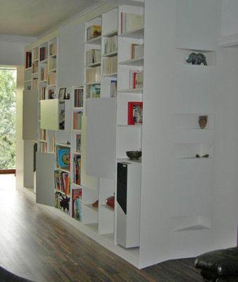 Bibliothèque encastrée sur-mesure - Menuiserie Agencement Général 44 à Nantes (44)