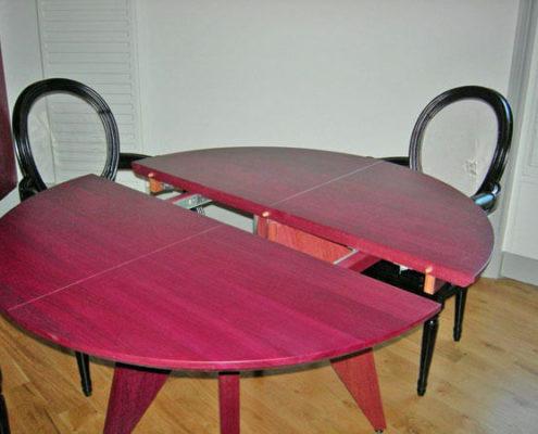 Table extensible en déploiement - Menuiserie Agencement Général 44 à Nantes (44)